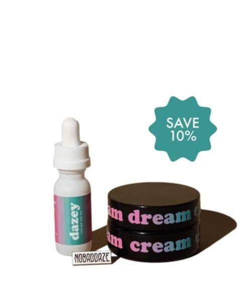 dazey extra and dream cream and nobaddaze pin