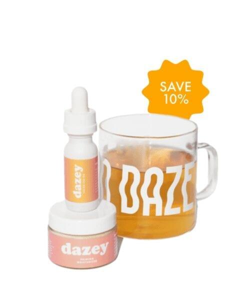 dazey regular and priming moisturizer and mug